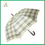Survêtement antidéflagrant 8k Auto Open Gingham Subway Golf Umbrella with Shoulder Strap