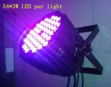 高い発電54*3Wは段階のディスコのための同価ランプを防水する