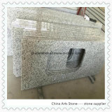 Bancada de cozinha de granito cinza branco para o projeto de residência