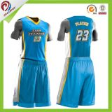 disegno su ordinazione di marchio della Jersey di pallacanestro di sublimazione di 100%Polyester Coolmax