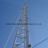 중국제 Guyed 돛대 관 강철 격자 통신 탑
