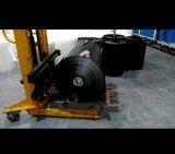 Chariot élévateur à fourche hydraulique pour le godet en plastique et la feuille de la machine manuellement l'extrudeuse, chariot élévateur à fourche de transport à main