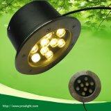 Blanc chaud 3000K 9W Lampe LED ronde souterraine pour la vente