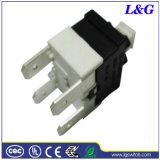 Interruptor de pulsador encendido-apagado del control 16A Dpst de la corriente eléctrica