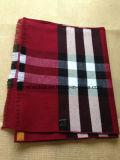De Katoenen van 100% Rode & Zwarte Gecontroleerde Geweven Sjaal van de Manier met Rand