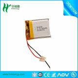 GPSの追跡者のための再充電可能な502035 300mAh李ポリマーリチウム電池