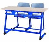 School Education를 위한 2015 최신 Sale High Quality School Furniture Double Student Desk&Chair