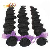 Venda por grosso Virgem Mongol Remy Extensão de cabelo cor natural de cabelo humano tecem