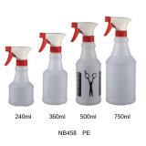Bottiglia di plastica dello spruzzatore di innesco del PVC per pulizia (NB455)