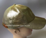 Мода кожаный бейсбольный колпачок с кожаными закрытия и металлический замок ремня безопасности (LY133)
