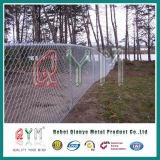 Cerca revestida de la conexión de cadena de conexión del acoplamiento del cuadrado de la aislamiento del PVC para la protección verde del campo