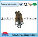 Fabrik-Lieferant XLPE/PET Isolieraluminium-ABC-Energien-Kabel-zusammengerollte Kabel-Luftverkabelung