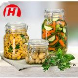 vaso di vetro di memoria Jar/16oz dell'alimento di 500ml 750mlclear con la clip del metallo