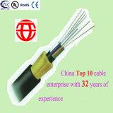 8 Core doble vaina no blindado Todo dieléctrico autosoportado Cable de fibra óptica de China