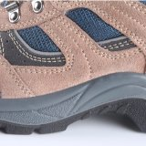 Zapatos de seguridad de acero de cuero de la punta del ante para el trabajador RS6118