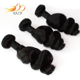 Venda por grosso de ondas soltas indiano cabelos virgens de cabelo humano tramas