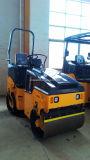 Mini rullo compressore costipatore a vibrazioni del doppio timpano idraulico pieno da 2 tonnellate