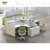 철사 관리를 가진 현대 사무용 가구 12 사람 사무실 칸막이실 워크 스테이션