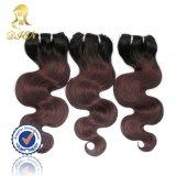 100% 인간적인 Hair Weaving Extension Ombre Color 1b/99j Body Wave
