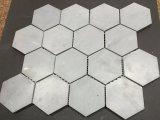 Mattonelle Polished del mosaico di esagono del marmo 3 di Bardiglio ''