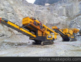 De mobiele Verpletterende Installatie van de Stenen Maalmachine en de Installatie van het Onderzoek