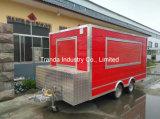 auf Verkaufs-mobiler Nahrungsmittelkarre Schnellimbiss-LKW