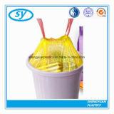 Мешок Drawstring отброса PE материальный цветастый пластичный