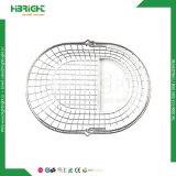 Panier à provisions simple de traitement de fil rond ovale avec le plateau en plastique