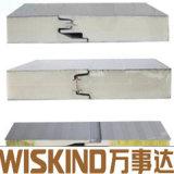 Painel do tipo sanduíche de poliuretano Poliuretano Heat-Insulated para o Teto da parede de aço