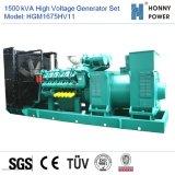 1875kVA Googolエンジン50Hzを搭載する高圧発電機セット10-11kv