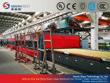 Línea de transformación plana doble del vidrio del endurecimiento de las cámaras de calefacción (TPG-2)