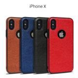 Erstklassiger Ader-Entwurfs-Handy-Fall der QualitätsTPU lederner für iPhone X