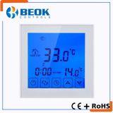 Termóstato eléctrico programable de la calefacción de la semana con la pantalla táctil