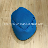 Base seca do sofá do gato do cão da base do filhote de cachorro do luxuoso da base do cão azul