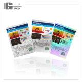 Cartões transparentes plásticos feitos sob encomenda do holograma da alta qualidade