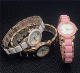 Relógios luxuosos plásticos do bracelete das senhoras Vs-495 com a cinta de aço fina cerâmica