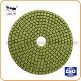 5 지면, 화강암, 대리석, 석영을%s 인치 125mm 다이아몬드 공구 닦는 패드
