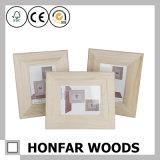 Frame de madeira inacabado da foto do retrato de DIY para o presente