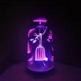超音波3Dガラス無言のAromatherapyの超音波精油の香りの拡散器