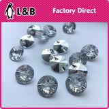 모조 다이아몬드 단추가 결합 단추 화려한 부속 결정에 의하여 단추를 끼운다