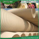 Муниципальная урбанская подземная труба из волнистого листового металла стены системы сбора сточных вод PVC-U двойная
