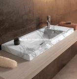Natürliche weiße Marmoruntersatz-Stein-Wannen-italienische Bassin-Behälter-Marmor-Wanne für Badezimmer