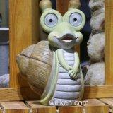 De nieuwe Creatieve Decoratie van het Huis van de Tuin van de Schildpad van het Beeldje van de Zonne-energie Leuke