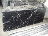 Blocco per grafici di portello di Marquina delle vene delle mattonelle di marmo sudicie nere delle scale/casella di marmo
