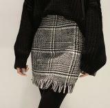 Falda de tela escocesa superior de la Mitad-Cintura del paño grueso y suave de las señoras de Customed