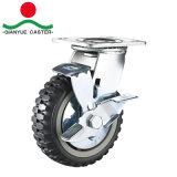 Супер высокого качества для тяжелого режима работы поворотный прозрачных PU самоустанавливающегося колеса
