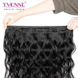 Colore naturale del Virgin dei capelli umani dell'onda brasiliana non trattata del corpo
