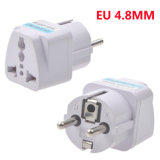 Universaleuroarbeitsweg-Stecker-Adapter 4.8mm EU stecken 10A 250V Wechselstrom-Konverter-Stecker ein