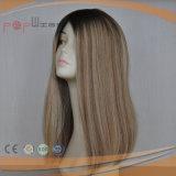 Silk gerade Menschenhaar-Perücke (PPG-l-0429)
