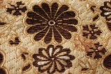 Tela del sofá de la tapicería del telar jacquar de Brown Color
